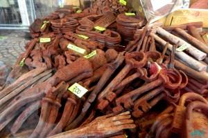 Decorazioni di cioccolato al mercato di Trento