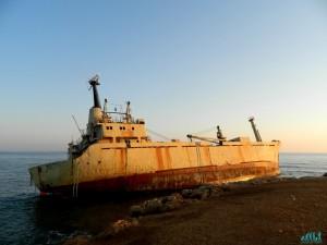Tramonto lungo la costa di Paphos