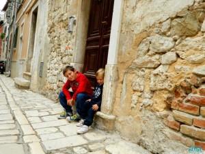 Il centro storico di Rovinj, in Istria