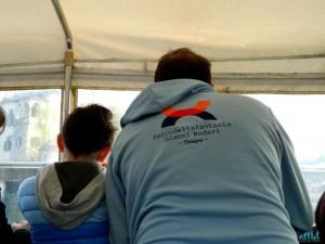 In motoscafo per raggiungere l'isola di San Giulio