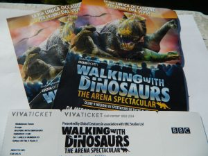 walking with dinosaurs in Italia