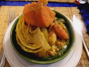 cous-cous marocchino preparato in un riad