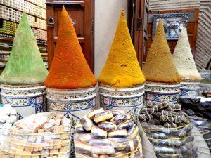 il mercato delle spezie del quartiere ebraico di marrakech