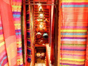 i tessuti del quartiere ebraico di marrakech