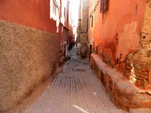 i vicoli del quartiere ebraico di Marrakech