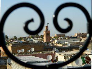 riad all'interno della medina di marrakech