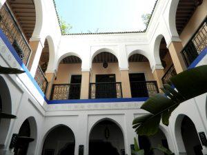 tipica struttura di un riad di marrakech