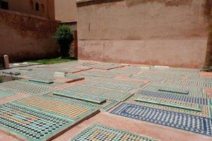 le tombe saadiane della kasbah di marrakech