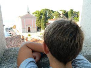 panorama dalla torre veneziana di veli losinj