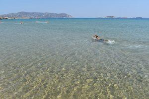 la spiaggia di Bonatsa a Kimolos