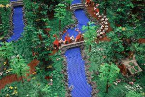 mostra lego a milano- diorama del castello