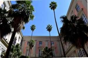 il giardino delle fontane del museo archeologico di Napoli