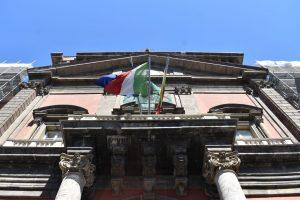 ingresso del museo archeologico di napoli