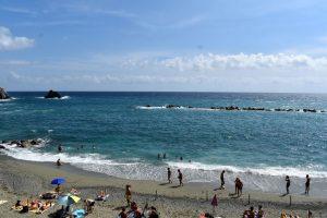 Spiaggia del paese vecchio a Monterosso