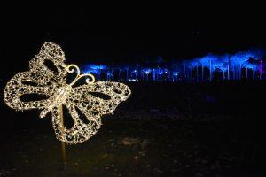 giardino esterno swarovski e nuvola di cristallo