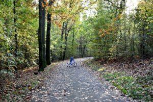in bici al parco di monza