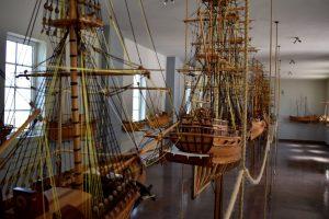 modellini del museo nautico di sami