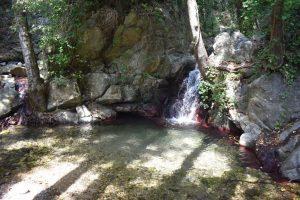 pozze d'acqua presso la cascata campanaro