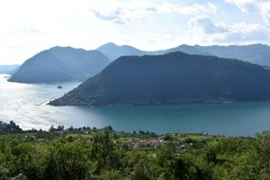 la vista sul lago di Iseo da Sale Marasino