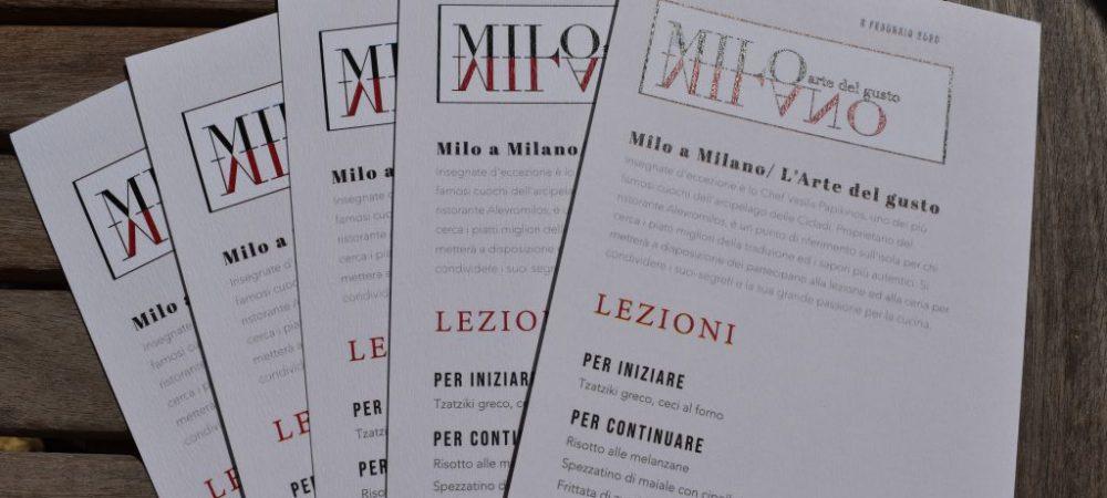 LE RICETTE DI MILO MILANO