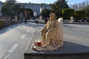 le statue viventi di madrid