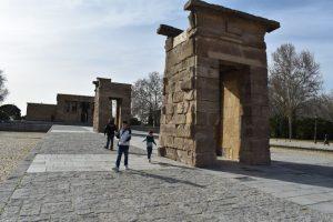 tempio egiziano di debod a madrid